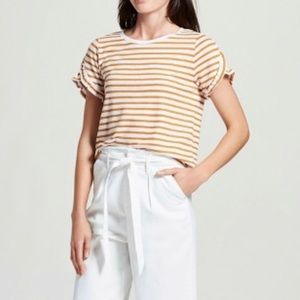 5/$25 A New Day Ruffle Sleeve Striped Shirt